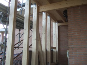 Ampliamento con struttura in legno