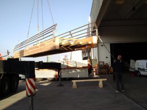 Ponte in legno di larice