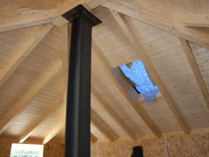 Vista interna sopralzo e tetto
