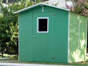 casetta colore verde